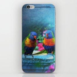 Rainbow Lorikeets iPhone Skin