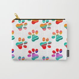 Colorful Cat Tracks Carry-All Pouch