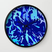 the life aquatic Wall Clocks featuring The Life Aquatic by Lior Blum