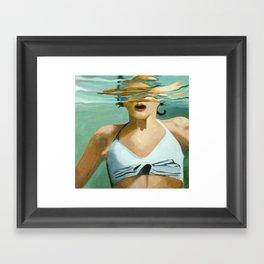 Girl in Water Framed Art Print