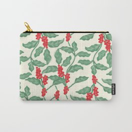 Coffee Plant Pattern Carry-All Pouch