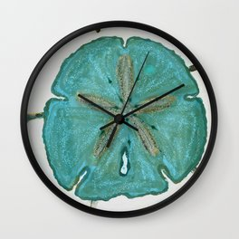 Sand Dollars Ocean Colors Wall Clock