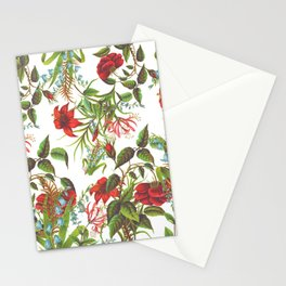 Ruby & Cerulean Floral Stationery Cards