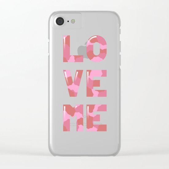 Love Me  Clear iPhone Case