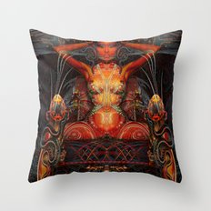 Triptych: Shakti - Red Goddess Throw Pillow