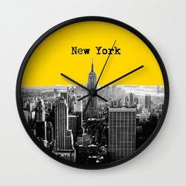 New York Poster Wall Clock