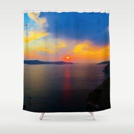 Fira,Sunset Shower Curtain
