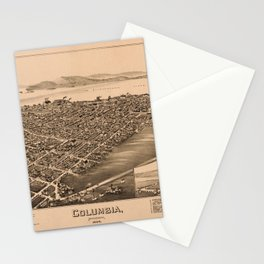 Aerial View of Columbia, Pennsylvania (1894) Stationery Cards