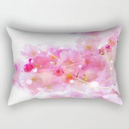 Japanese Sakura Tree with Pastel Pink Blossoms Rectangular Pillow