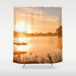 Idyllic Small Islet In A Lake Ultra HD Shower Curtain