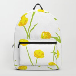Summer Flower Pattern in Yellow and Green Backpack