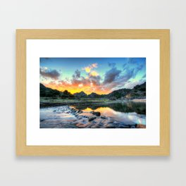 Sunset Landscape #river Framed Art Print