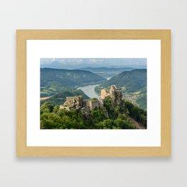 Castle Ruins of Aggstein, Wachau (Austria) Framed Art Print
