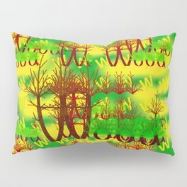 W - pattern wood 1 Pillow Sham