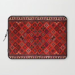 -A30- Red Epic Traditional Moroccan Carpet Design. Laptop Sleeve