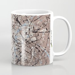 High Again - Jackson Pollock style abstract drip painting by Rasko Coffee Mug