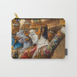 Yaksha guardians at the Grand Palace or Wat Phra Kaew, Bangkok, Thailand. A beautiful fine art photography of my wanderlust in south east Asia. Carry-All Pouch