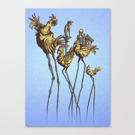 Dali Chocobos Canvas Print