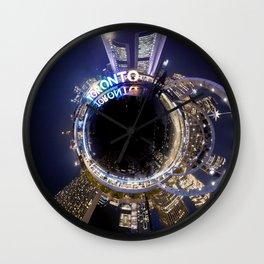 Toronto City Hall Tiny planet! Wall Clock