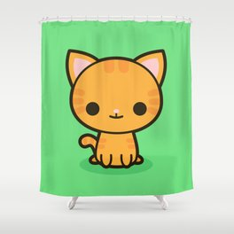 Kawaii Kitty 2 Shower Curtain