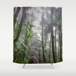 The Cloud forest - before Maria - El Yunque rainforest PR Shower Curtain