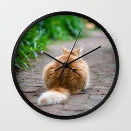 Never Look Back Wall Clock
