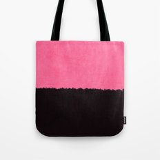 pink and black canvas Tote Bag