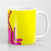 rock and roll Mugs featuring Rock & Roll by Chelsea Herrick