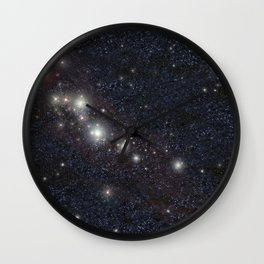 Bright stars Wall Clock