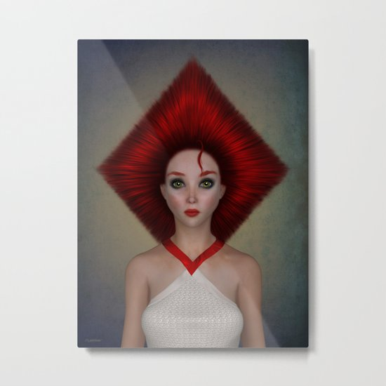 Queen of diamonds portrait Metal Print
