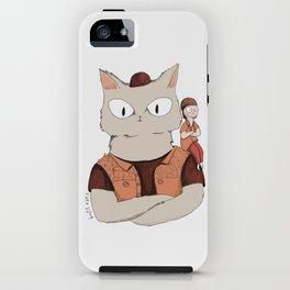 Walter the metal cat iPhone Case