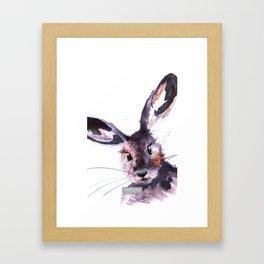 Inky Hare Framed Art Print