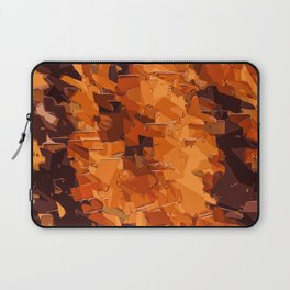 brown and dark brown painting abstract background Laptop Sleeve