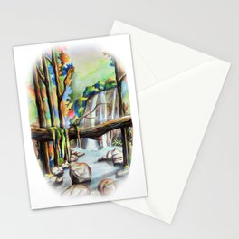 Waterfall in the Forest Stationery Cards