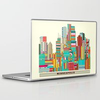 minneapolis Laptop & iPad Skins featuring Minneapolis city  by bri.buckley