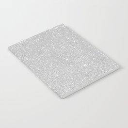 Pastel Grey Glitter Notebook