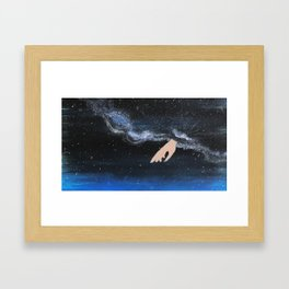 Milky Way with her Framed Art Print