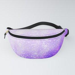 Purple Bokeh Effect Ombre Fanny Pack