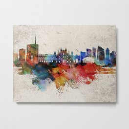 Milan Abstract Skyline Metal Print