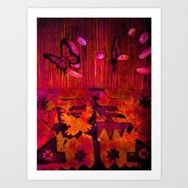 Entomophobia (red) Art Print