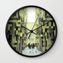 The language of lengthy lingering on longer lunges Wall Clock