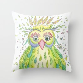 Forest's Owl Throw Pillow