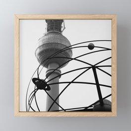 Weltzeituhr Fernsehturm Framed Mini Art Print