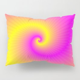 Pink and Yellow Spiral Pillow Sham
