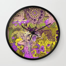 Garden Pansy Wall Clock