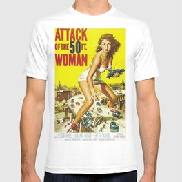 Attack Of The 50 Foot Woman, vintage horror movie poster T-shirt
