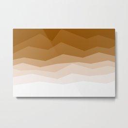 Earth Waves Astract Metal Print