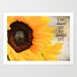 Sun Kissed Life Art Print