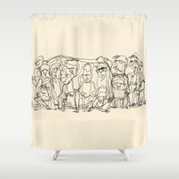 misfits Shower Curtains featuring Misfits by 5wingerone