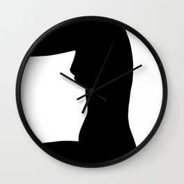 Nude silhouette figure - Nude black 002 Wall Clock